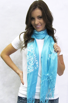 I Can Do All Things Through Christ Scarf- Turquoise