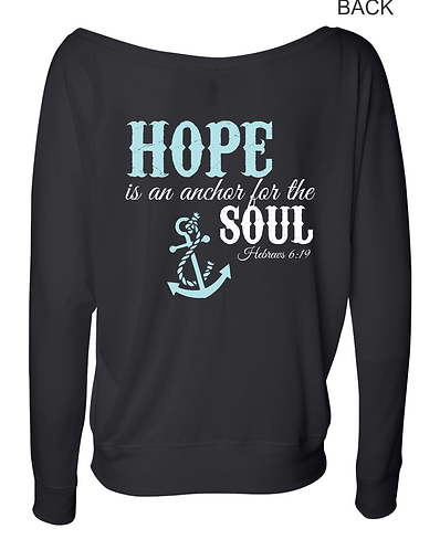 Hope Is An Anchor For The Soul Black Long Sleeve Tee