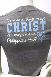 PHILIPPIANS 4:13 Women's Athletic Tee