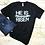Thumbnail: He Is Risen Women's Christian T shirt- Black