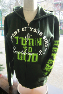 Repent And Turn To God Women's Hoodie- Oregano