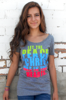 Let The Peace Of Christ Rule In Your Hearts Women's Tee