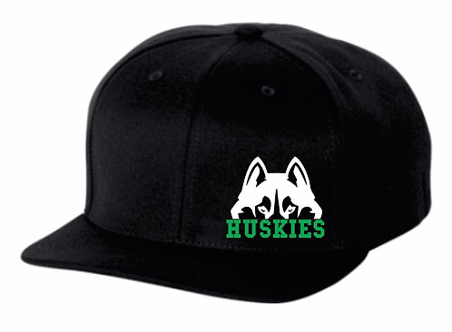Hansen Huskies Flat Bill Snap Back Hat
