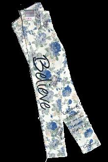 Believe Girl's Floral Denim Skinny Jeans