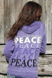 Jeremiah 29:11 Women's Christian Zip Up Hoodie- Orchid