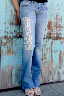 BE KIND TO ONE ANOTHER WOMEN'S JEANS