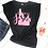 Thumbnail: Praising Jesus- Choose Any State Women's Rolled Sleeve Black Tee