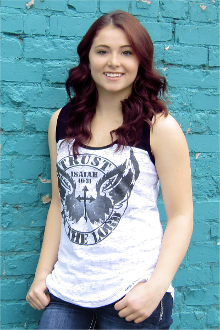 Trust In The Lord Women's Burnout Tank Top