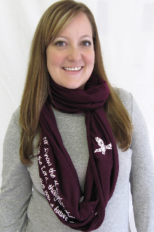 Thoughts Of Peace And Not Of Evil Infinity Scarf- Plum