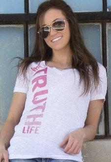 Way Truth Life Women's Christian T-shirt- Pink