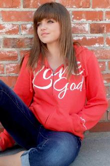 Love God Love Others Women's Zip Up Hoodie- Orange