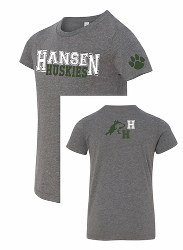 Adult Unisex Hansen Heather Gray Short Sleeve T-shirt