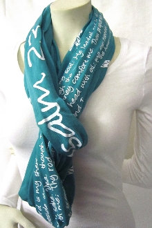 Psalm 23 Infinity Scarf- Teal