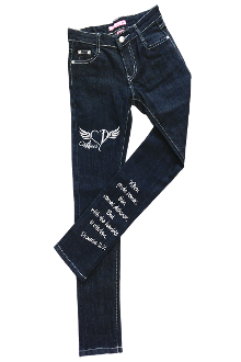 With The Humble Is Wisdom Denim Skinny Jeans