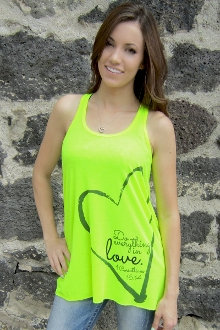 Do Everything In Love Women's Flowy Tank- Yellow