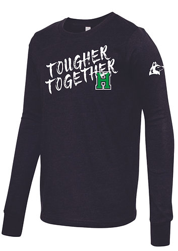 Youth L. Tougher Together Black Heather Long Sleeve
