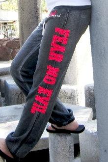 Fear No Evil Women's Sweatpants- Graphite