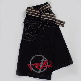 Fear Black Denim Shorts