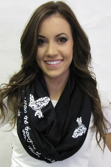 Thoughts Of Peace And Not Of Evil Infinity Scarf- Black
