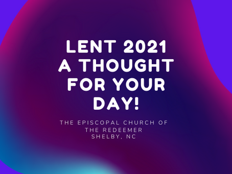 Lent Devotions March 4th