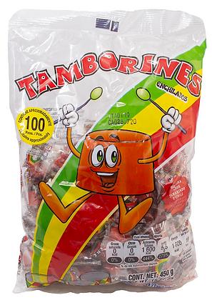 Dulce Tamborines - Bolsa con aproximadamente 100 piezas