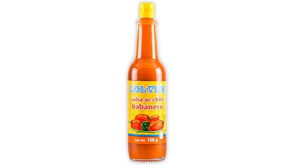 Salsa de Chile Habanero Roja Lol Tun (150ml)
