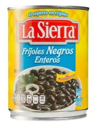 Frijoles Negros Enteros La Sierra (560g)