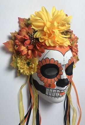 El Santo Mask in Black and Orange