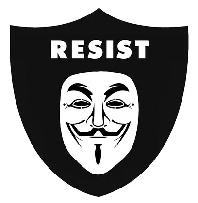 RAIDERS RESIST STICKER