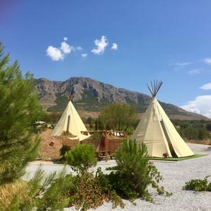 Many Olives & Many Mountains teepees