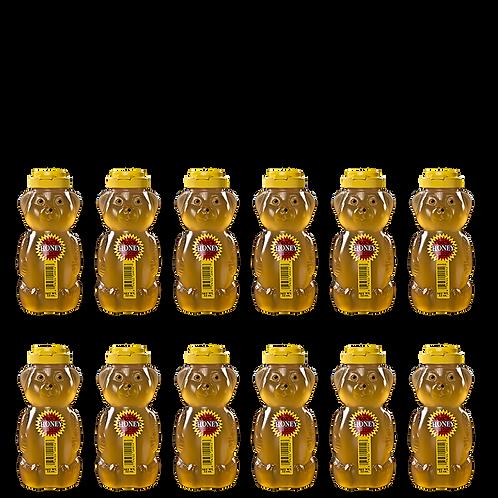 12 oz Raw Clover Honey Case
