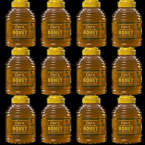 16 oz Raw Clover Honey Case