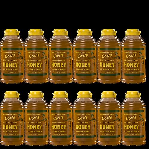 24 oz Raw Clover Honey Case