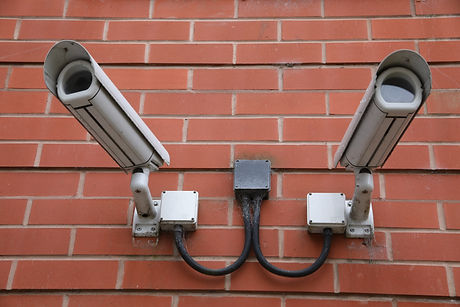 Wall mounted CCTV Camera on a residentia