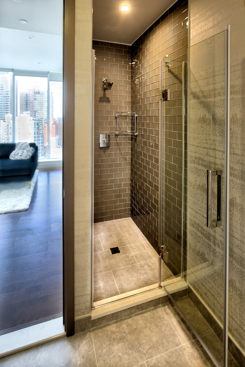 15E guest bathroom walk-in shower - livi