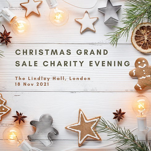 Christmas Grand Sale Charity Evening at The Lindley Hall, London