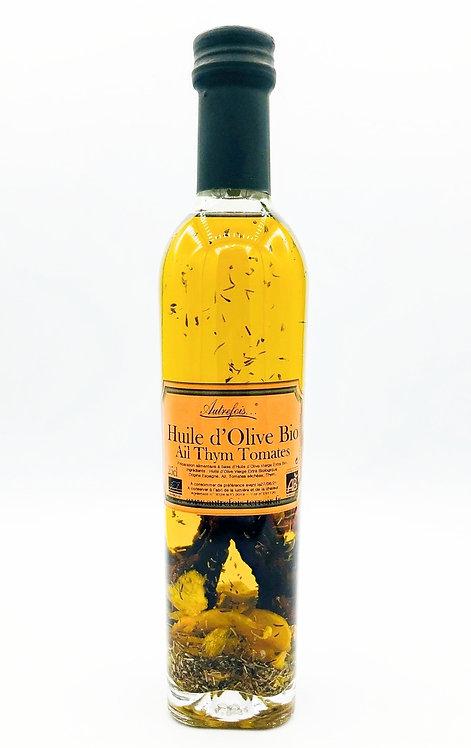 Huile d'olive ail, thym, tomates séchées