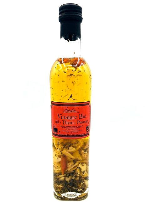 BIO Weissweinessig mit Knoblauch, Thymian & Chili