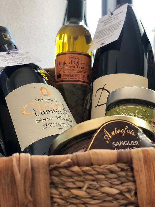 Geschenkkorb Wein & Delikatessen
