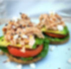 @glutenfreestephy open faced bagel with