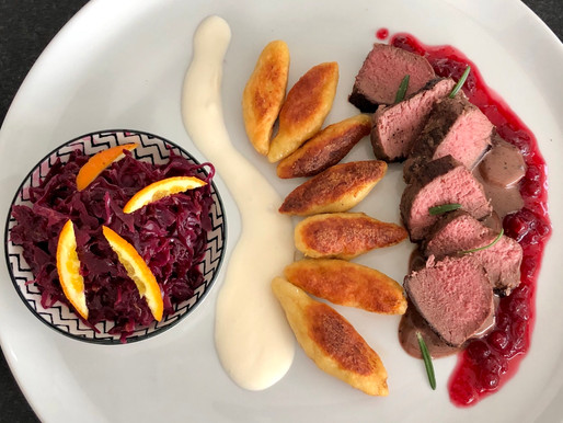 Filet mit Orangen Rotkraut