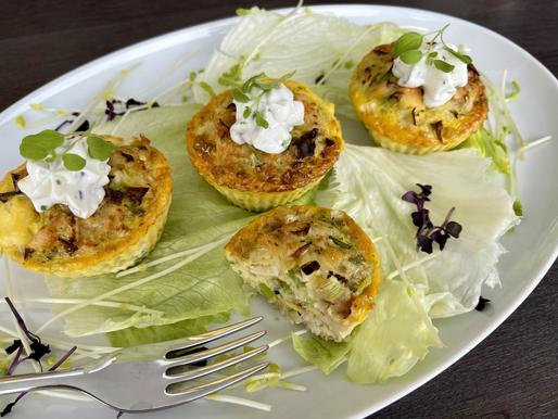 Pikante Forellen-Fenchel-Muffin (low carb, glutenfrei)