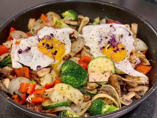 Gemüsegröstl mit Tofu und 🍳