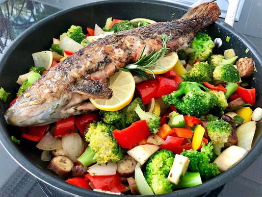 Gebratener Saibling mit buntem Gemüse - ein Hit! Fisch & Co haben ganzjährig Saison!