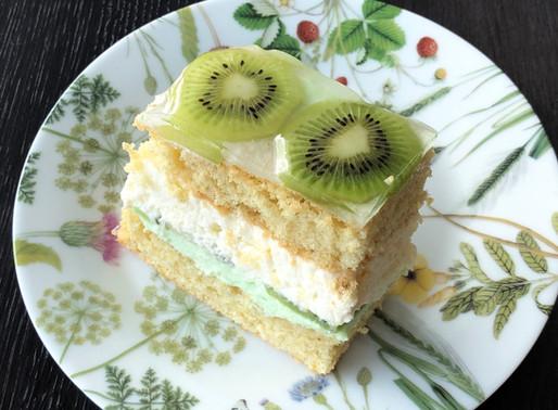 Kiwi-Topfen-Schnitte