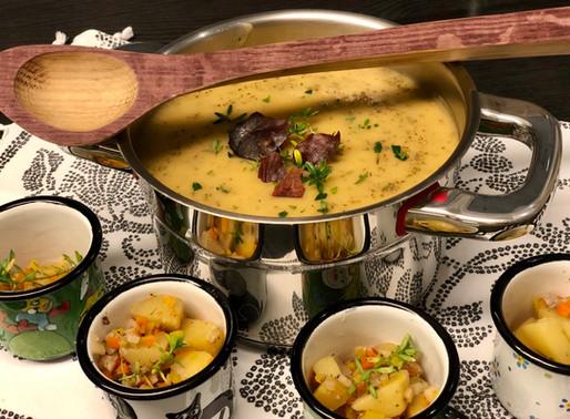 Erdäpfel-Suppe mit Steinpilz-Thymian ❤️