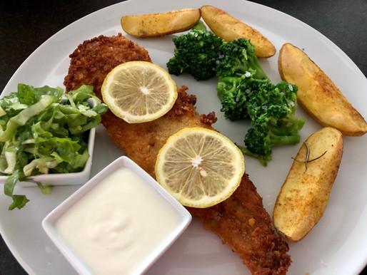 Fisch in Cornflakes-Panade