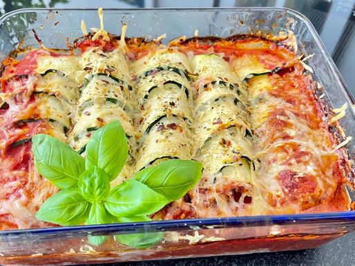 Überbackene Zucchini Rouladen