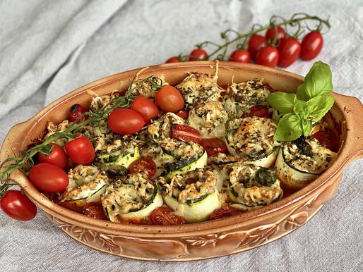 Zucchini-Canelloni (vegetarisch)