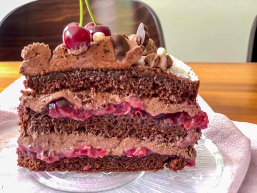 Schoko-🍒-Torte